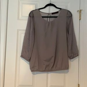The Limited Sheer Back Blouse